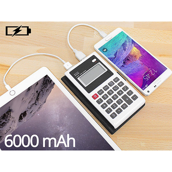 Power Bank Calculatrice 6000mAh