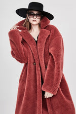JAZZEVAR 2019 Winter New Fashion Womens Teddy Bear Icon Coat X-Long Real Sheep Fur Oversized Parka Thick Warm Outerwear J8003