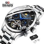 HAIQIN Original Mechanical Watch Unique Men's Watches Waterproof/Military/Sport Wristwatch Male Casual Automatic Wrist Watch Men