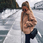 Autumn winter jacket female coat 2019 fashion korean style plus size women teddy fur coat female casual jacket woman pusheen