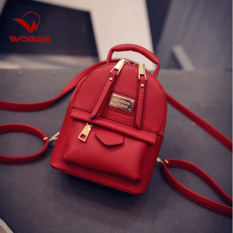Female Backpack Shoulder Bag Women Messenger Mini Small Backpack College Wind Pu Leather Simple Retro Leisure Black Bag Hot Sale