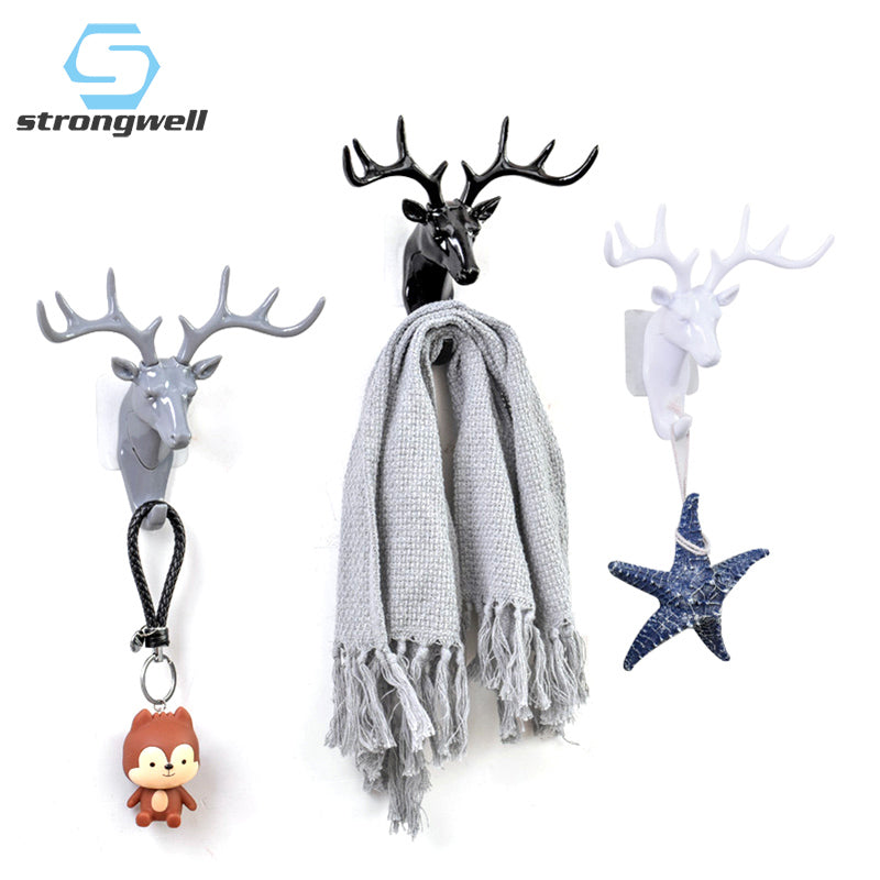 European Plastic Deer Statue Crafts Animal Ornament Shelf Rack Stand Figurines Home Decor Living Room Decor Wedding Gift