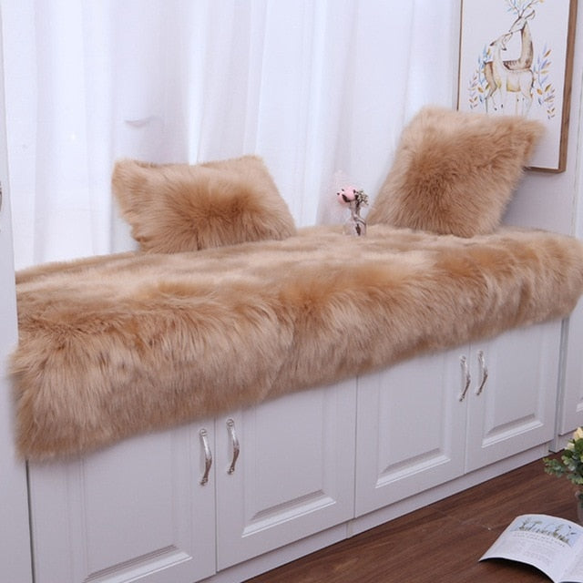 Thicken Non-Slip Rugs Long Plush Carpet for Bedroom Bay Window Solid Winter Warm Carpets for Living Room Area Rugs Mats 13 Sizes