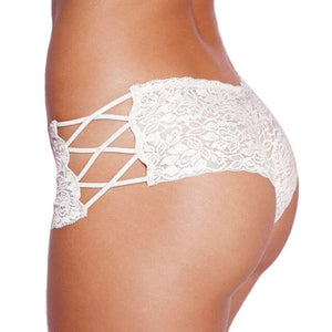 Lace Panties Women's Briefs Transparent Pregnant Underwear Sexy Soft Plus Size Panties Hollow Out Lingerie Low Waist Female