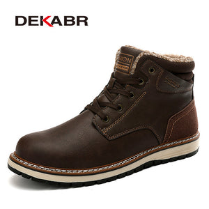 DEKABR 2019 New Snow Boots Protective and Wear-resistant Sole Man Boots Warm and Comfortable Winter Walking Boots Big Size 39-46