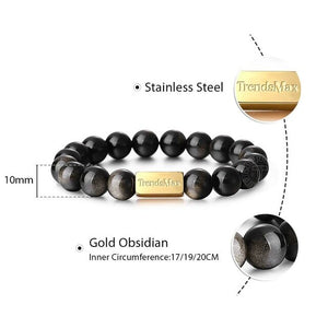 10mm Natural Stone Bead Stretch Bracelet for Men Women 925 Silver Lava Stone Eagle Tiger Eye Essential Oil Engraving Gift TBB016