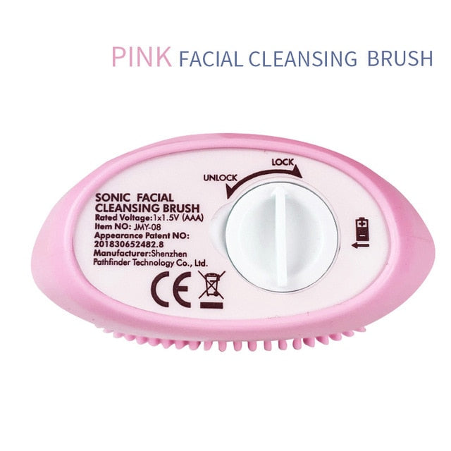 Face Cleansing Brush Facial Cleanser Blackhead Remover Pore Cleaner Massage Waterproof Silicone Cleansing Skin Care Tool