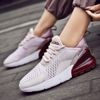 2020 Women Casual Shoes Fashion Women Sneakers Breathable Mesh Walking Shoes Lace Up Flat Shoes Plus size 36-47