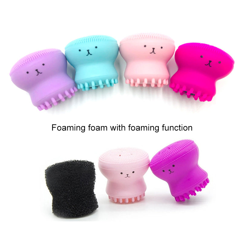 Silicone Small Octopus Facial Cleaning Brush Beauty Washing Brush