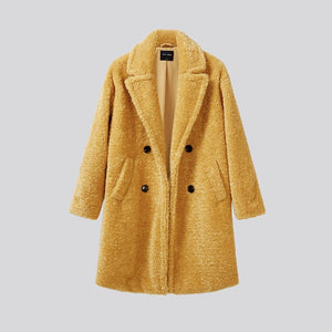 Winter women's wear high quality imitation sheepskin fur jacket luxury long fur coat loose lapel thick hot jacket + women's size