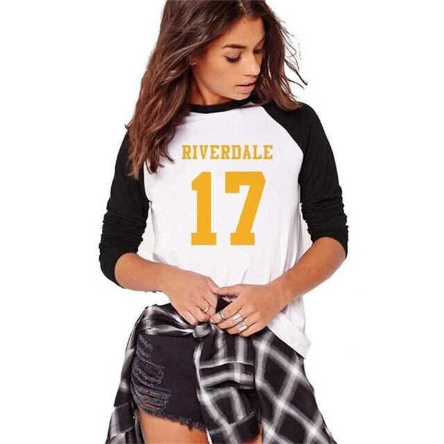 Riverdale Southside Serpents Tshirt Women Full Sleeve Cotton T Shirt Harajuku Design Ladies Casual Tshirt Autumn Cotton Tees