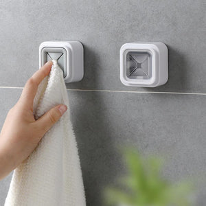 2 Color Wall-mounted Tea Towel Rack Napkin Push-in Kitchen Bathroom Bathroom Towel Plug-free Punch-on Suction Cup Hook