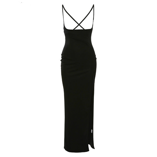 NEDEINS Push Up Black Sexy Dresses Women Casual Party Long Dress Beach Vacation 2020 Spring Fashion Summer Stretch Elegant Dress