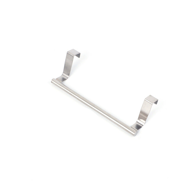Bathroom Towel Stand Rack Kitchen Stainless Steel Cupboard Hanger Cabinet Hanging Sundries Wall Mounted Storage Shelf Holder