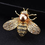 Famous Brand Design Insect Series Brooch Women Delicate Little Bee Brooches Crystal Rhinestone Pin Brooch Jewelry Gifts For Girl