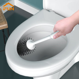 iFun/Toilet Brush & Head Holder Cleaning Brush For Toilet Wall Hanging Household Floor Cleaning Bathroom Cleaning Tool