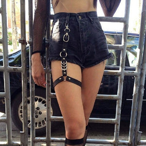 Harajuku Goth Sexy Women Leather Harness  Belts Bondage Adjust Cage Bra Lingerie  Waist Straps Suspenders Garter Belt