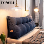 TONGDI Home Soft Large Pillow Back Cushion Long Elastic Backrest Multifunction Luxury Decor For Bedside Seat Bed Sofa Tatami