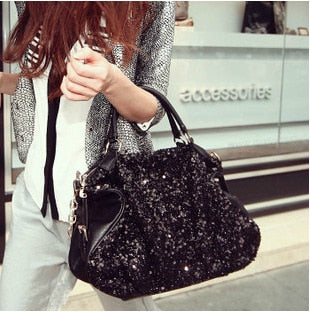 luxury designer bags Black Sequin Trend Shoulder Bag bags for women 2020 womens handbags and purses bag women ladies Louis  bags