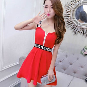 Fashion Women Lantern Sleeve Turn Down Chiffon Shirt Top + Mini Short A Line Letter Spaghetti Strap Dress New Two Pieces Sets