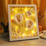 3D Baby Souvenir Set Handprint Footprint Soft Clay Photo Frame Newborn Exquisite Decorations Ornament Print Keepsake Baby Care