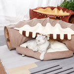 Cat Bed Tunnel Collapsible Removeable Cat Tunnel Tube Pet Interactive Play Toys with Plush Balls For Cat Puppy