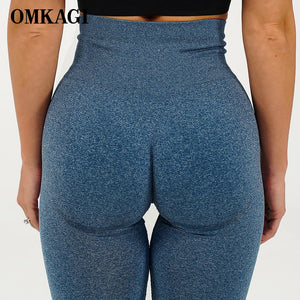 OMKAGI High Waist Seamless Legging Gym Sport Pants Femme Push Up Fitness Elastic Sexy Workout Women Sport Yoga Leggings Women