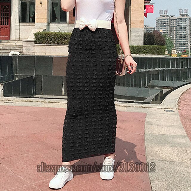 Faldas Mujer Moda 2019 Winter Abaya muslim High Waist Bodycon Maxi Pencil Long Skirt Jupe Longue Femme Skirts Womens Clothing