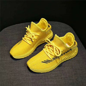 2020 Women's shoes spring student new breathable flying woven casual shoes fashion trend shoes wild sports ladies shoes