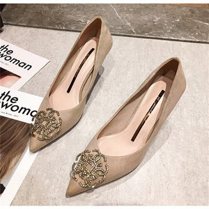 Womens Shoes 2020 High Heels Pumps Elegant Party Crystal Fashion Ladies Shoes