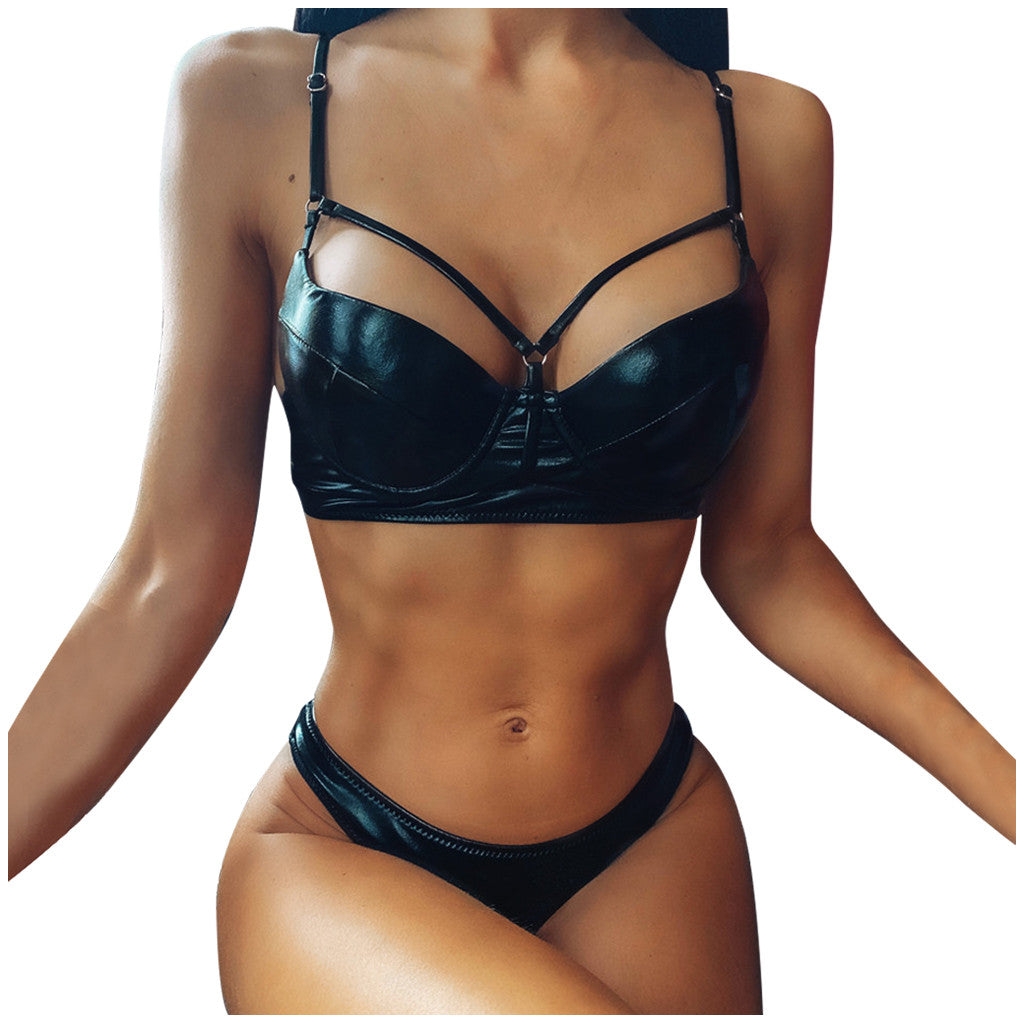 2020 Black Solid Metallic Bikini Women's Bikini Set Swimsuit Two Piece Filled Bra Swimwear Beachwear Biquini купальник женский