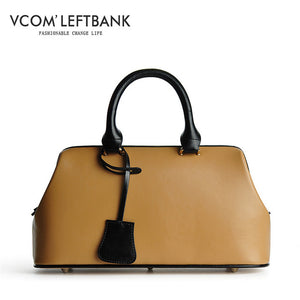 2020 Retro Fashion Classic Doctor Bag 100% Real Leather Bag Brand Designer Women Handbags Big Capacity Tote Luxury Hand Bag