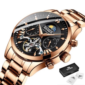Automatic Mechanical Clock Mens Watches Top Brand Luxury HAIQIN Watch Men Business Tourbillon Sport Wristwatch Relogio Masculino
