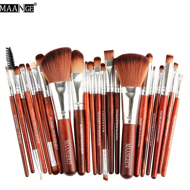 22Pcs Makeup Brushes Set Foundation Highlighter Eye Shadow Powder Contour Concealer Blush Lip Cosmetic Beauty Make Up Brush Kit