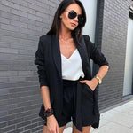 2020 summer new sexy red apricot women's set long-sleeved jacket shorts office sets casual 2 piece two-piece party Pants set