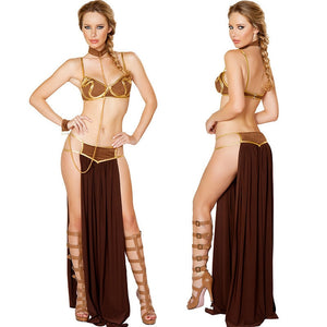 4Pcs/Set Sexy Indians Girl Uniforms Arab Clothing Cleopatra Costumes Egyptian Goddess Dress Cosplay Halloween Costumes