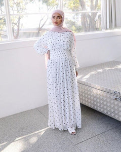 Ramadan Eid Mubarak Polka Dot Abaya Turkey Hijab Muslim Dress Islamic Clothing For Women Dubai Kaftan Oman Robe Ropa Musulmana