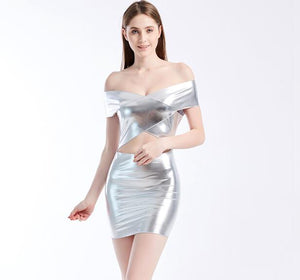 YGYEEG Summer Backless Bodycon Dress Fashion New Women Cross Sexy Short Sleeve Casual Patchwork Hollow Out Female Dress Vestidos