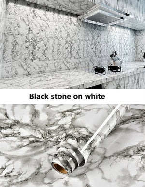 Thickened Marble stickers kitchen Wall Stickers wallpaper Anti-oil paste Self-adhesive foil waterproof bathroom wall stickers