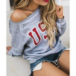 Women's Sweatshirt 2020 New Letter Print Sweatshirts Ladies O-Neck Blouse Tops Long Sleeve Sweatshirt sudadera mujer