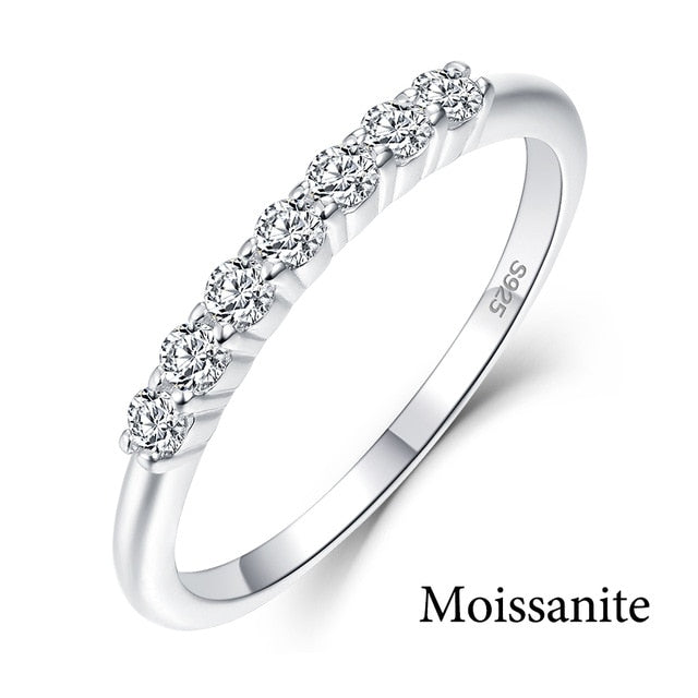Kuololit 100% Natural Moissanite Topaz Gemstones Ring for Women Solid 925 Sterling Silver  Wedding Band Ring Gifts Fine Jewelry