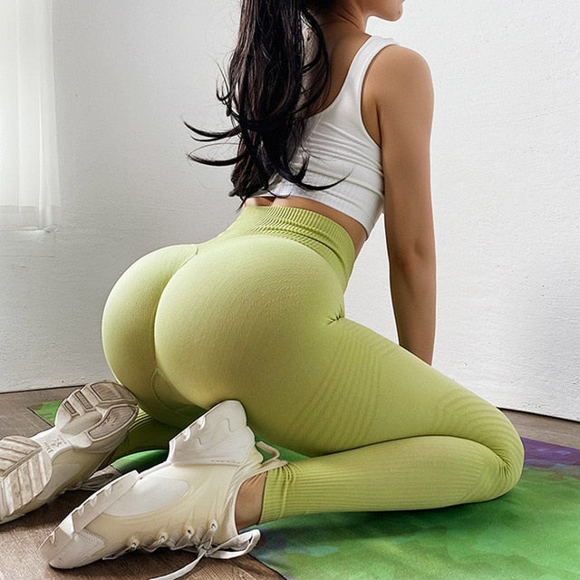 Booty Seamless Legging Sport Women Fitness High Waist Yoga Pants Fitness Gym Seamless Energy Leggings Workout Running Activewear