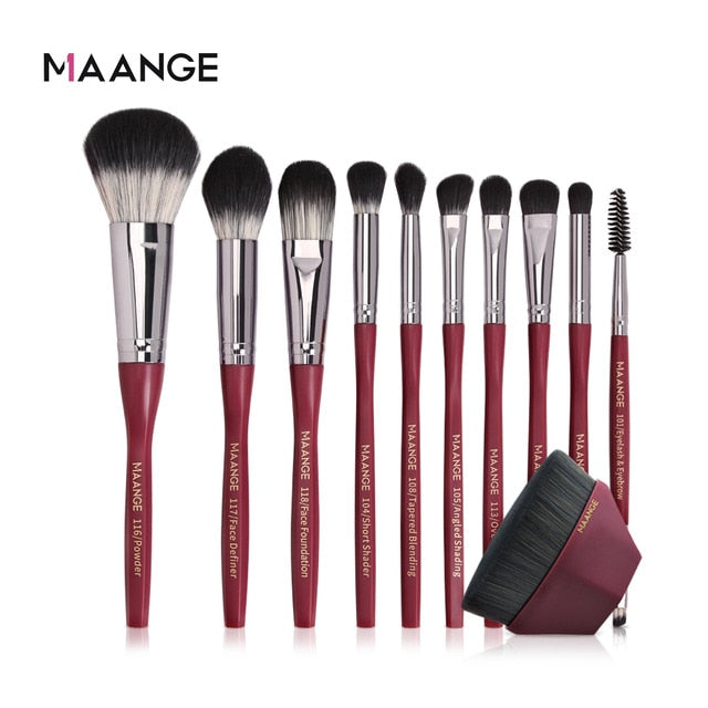 MAANGE Pro 5/10/11cs Makeup Brushes Set Foundation Brush BB Cream Eye Shadow Face Brushes For Makeup Best Cosmetic Tools New