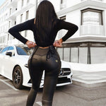 Melody Wear Vegan Leather Trousers Women Plus Size Pants Black High Waisted Matte Leather Pants Streetwear Women