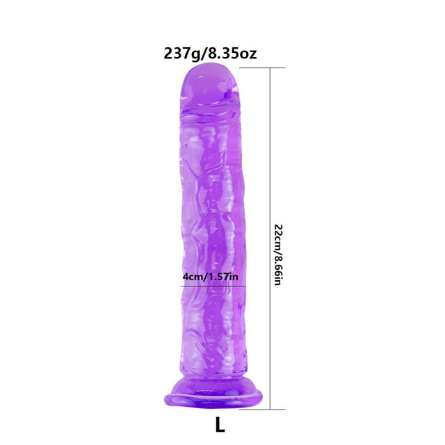 Erotic Soft Jelly Dildo Anal Butt Plug Realistic Penis with Suction Cup Simulation Penis Big Dildo Sex Shop Sex Toys for Woman