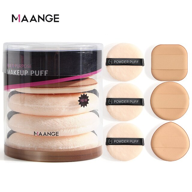 5/6/8pcs Professional Round Shape Facial Face Body Powder Foundation Puff Portable Soft Cosmetic Puff Makeup Foundation Sponge