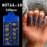 Lamemoria 100/500pcs/opp/box Fake Nails Coffin Nail Tips Press on Nails Natural Clear Long Ballerina DIY False Nail Full Cover
