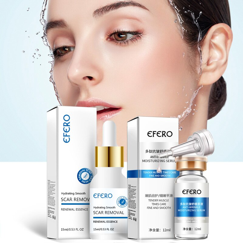 efero  Six Peptides Serum for Face Cream Anti Wrinkle Aging Hyaluronic Essence Whitening Cream Moisturizing Skin Care