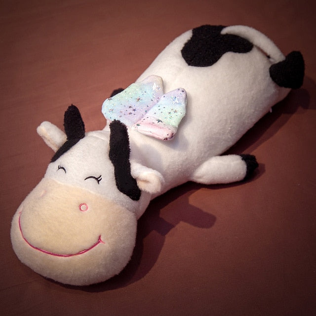 70/95/120cm Huge Long Lovely Cow Plush Pillow Toys Cartoon Soft Zodiac Cattle Plush Doll Sleep Cushion Baby Kids Birthday Gift