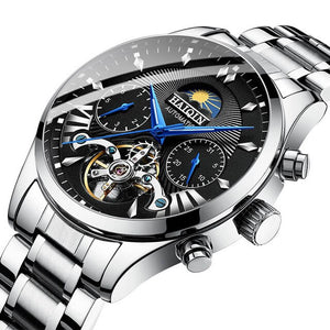 New HAIQIN Top Luxury Automatic Mechanical Watch Men Classic Bussiness Tourbillon Waterproof Sports Wristwatch Relogio Masculino